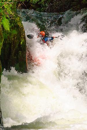 Taking the plunge, Kaituna River, New Zealand