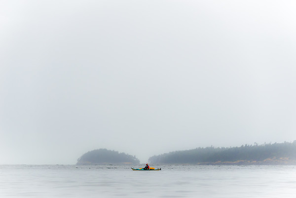 Morning fog, San Juan Islands, Washington