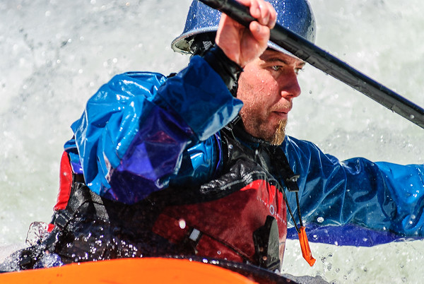 Focused on the next move, Rodeo Hole, Wenatchee River, Washington