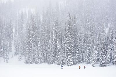 Stormy tour, Valhalla Range, British Columbia, Canada