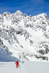 Heading home across Snow Lake, Snoqualmie Pass, Washington