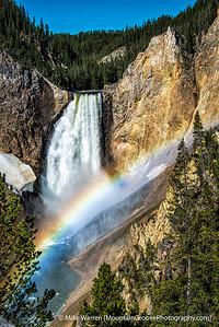 Rainbow over lower Yellowstone Falls, Grand Canyon of the Yellowstone, Yellowstone National Park