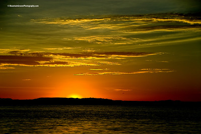 Sunset over Gulf of California, Baja, MX