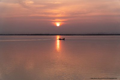 Sunrise on the Irrawaddy River, Myanmar