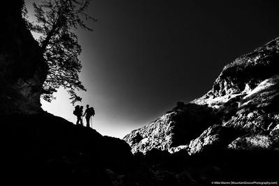 Backpackers in love, Olympic National Park, Washington coast.