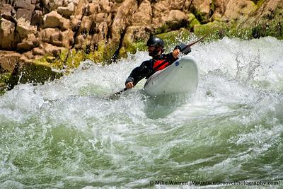 Kayaker, Colorado River, Grand Canyon National Park, AZ