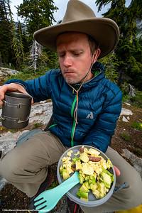 Healthy backcountry breakfast!  Series of 2