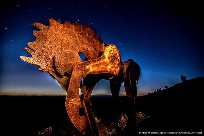 Light painted horse, Wild Horse Monument, Vantage, WA