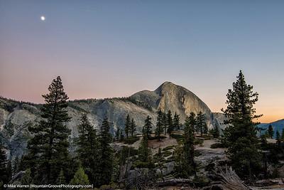Moonrise over Half Dome, Yosemite National Park