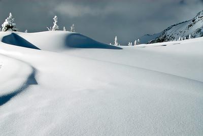 Sculpted Snow, Mt. Rainier NP backcountry