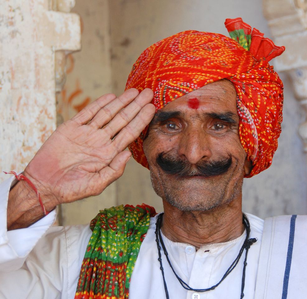 Faces of India: Hotel welcomer (2010).