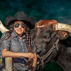 Texas Cowgirl and Her Longhorn