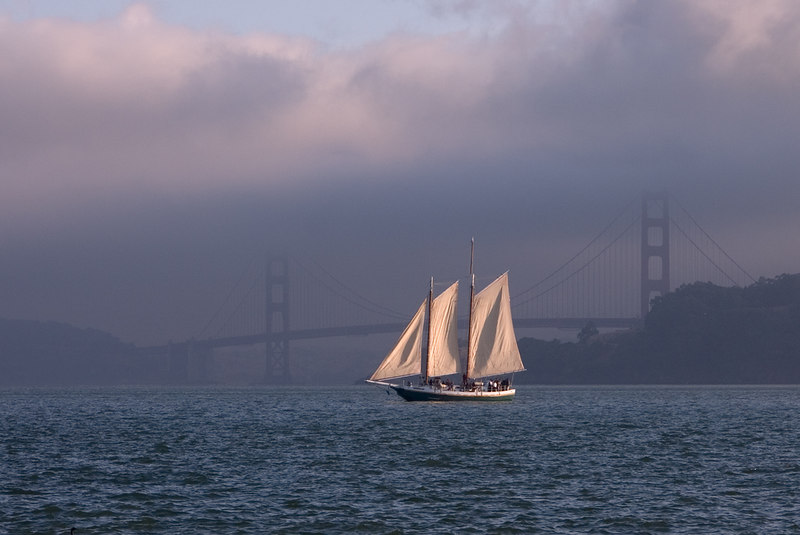 From Angel Island Ferry sunset cruise.