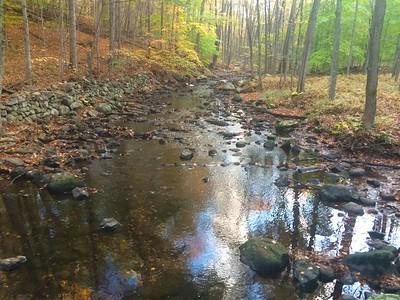 Bridge #2 looking east showing very low water October 2014. (photo by Rob Cummings)