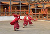 Flying Monks at the Paro Dzong