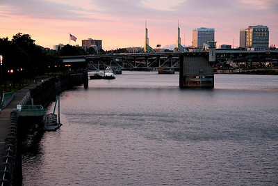 Sunset Over the Willamette River