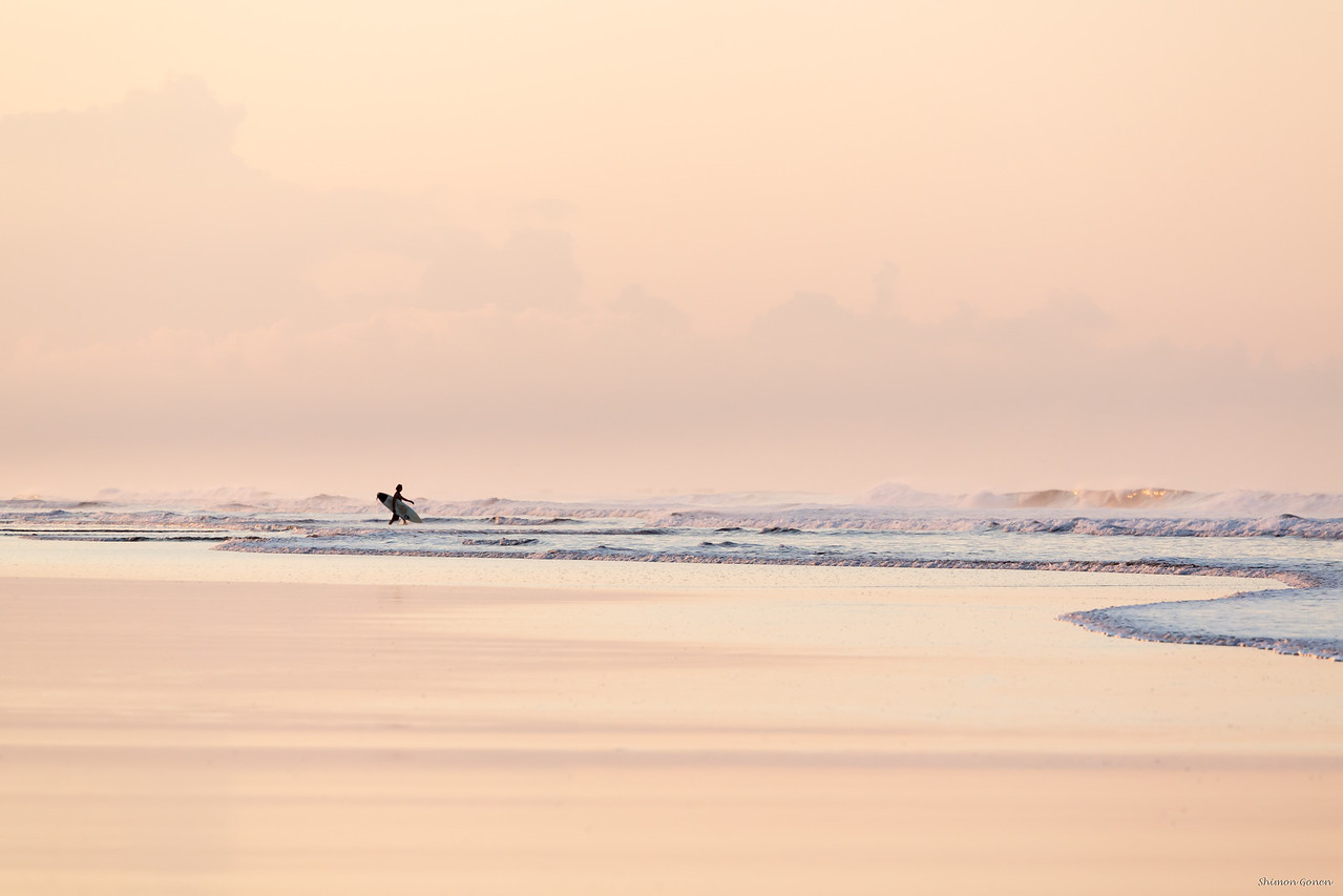 Early morning surf colors