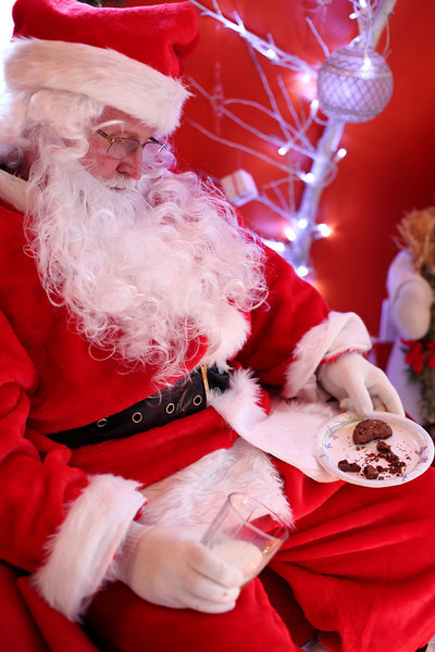 Santa, Cookies and Milk