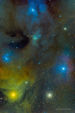 Antares and Rho Ophiuchi Nebulosity