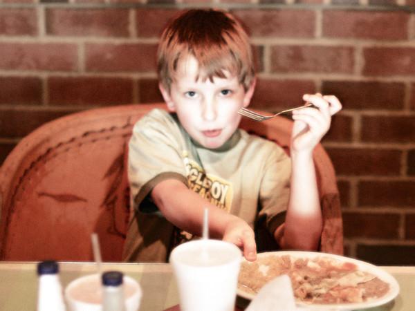 Local Mexican restaurant.  Joshua, age 9.