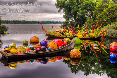 Glass art by Seattle artist Chihuly. Image taken at Dallas Arboretum 5-12-2012