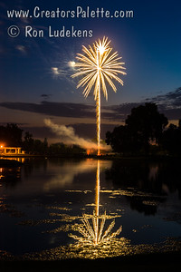 Fireworks at Visalia Country Club 7-3-2013 (Note: This one looks great on metallic paper or aluminum)