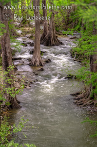 Verde Creek south of Center Point, Texas