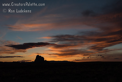 Ship Rock at sunset - New Mexico