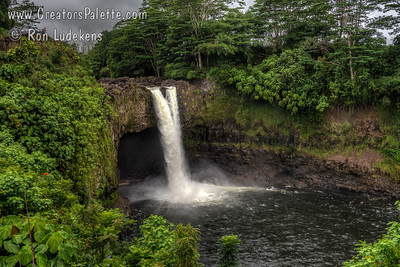 Rainbow Falls - Wailuku River State Park near Hilo, Hawaii