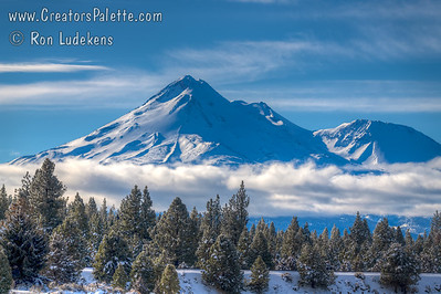 Mount Shasta in Early February