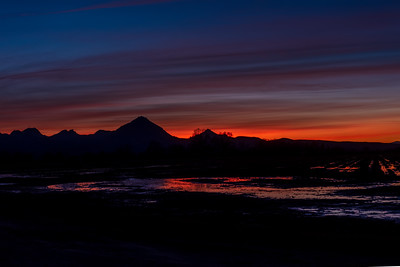 Sunset behind the Sutter Buttes