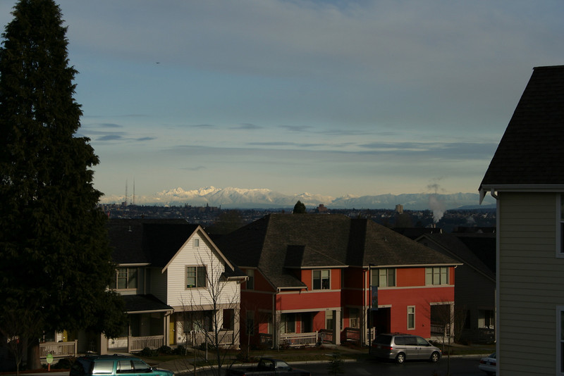View from our balcony on a clear day
