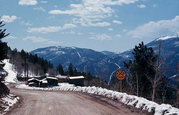Oh My God Road. Photographed while motorcycling in the Rocky Mountains in 1971.