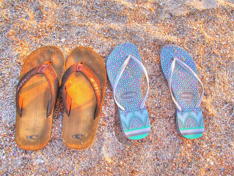 Flip Flops in the Sand, Amelia Island 2012 Copyright Sue Steinbrook