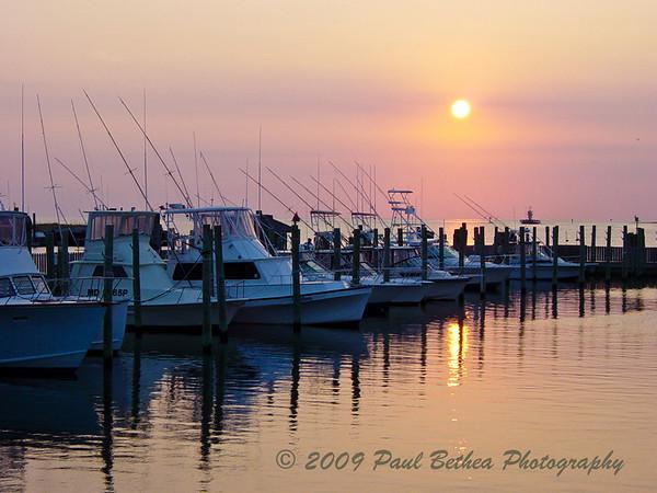 Sunset, Hatteras Village, Outer Banks, North Carolina.