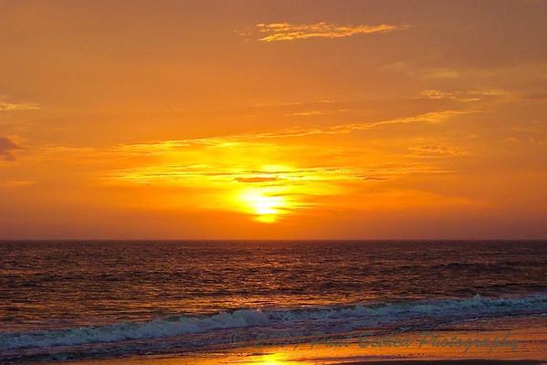 Sunset, Oak Island, North Carolina.