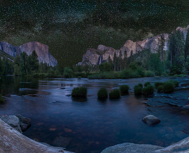 Yosemite Valley and the Milky Way