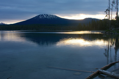 Dawn over Lava Lake and Mt. Bachelor