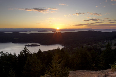 Sunset over Westsound, Orcas Island