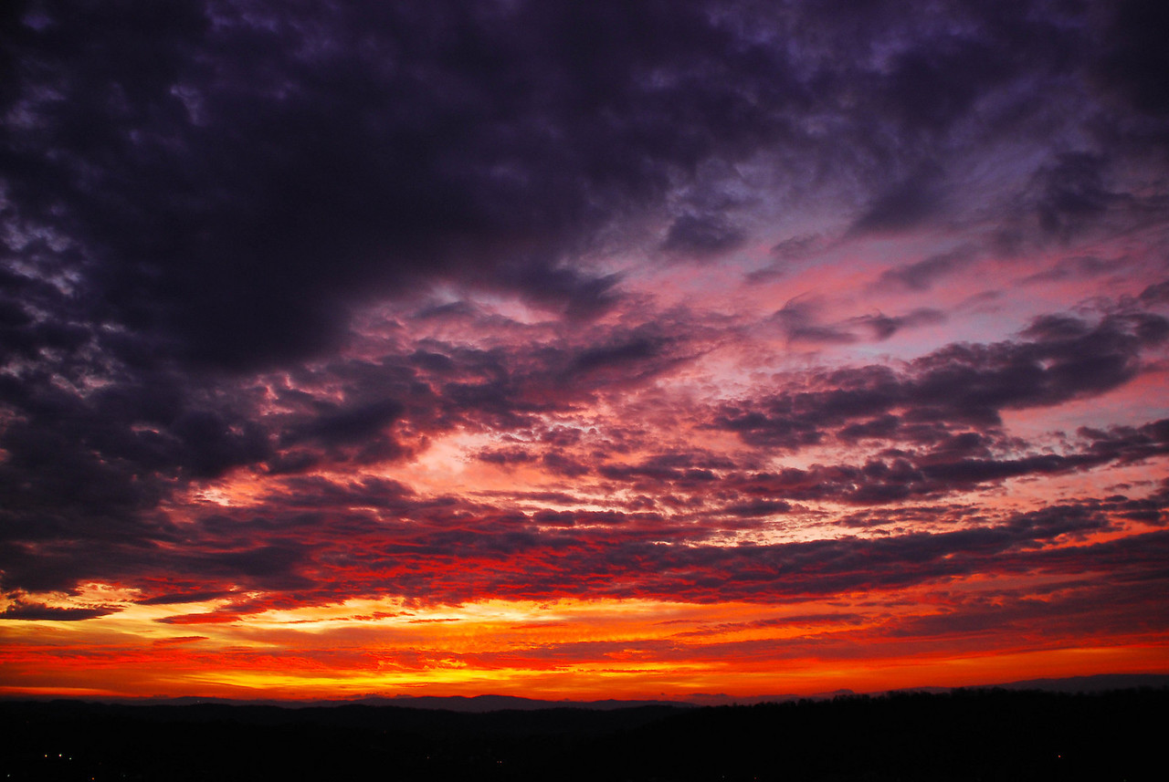 Autumn sunrise over Cooks Valley in Kingsport.