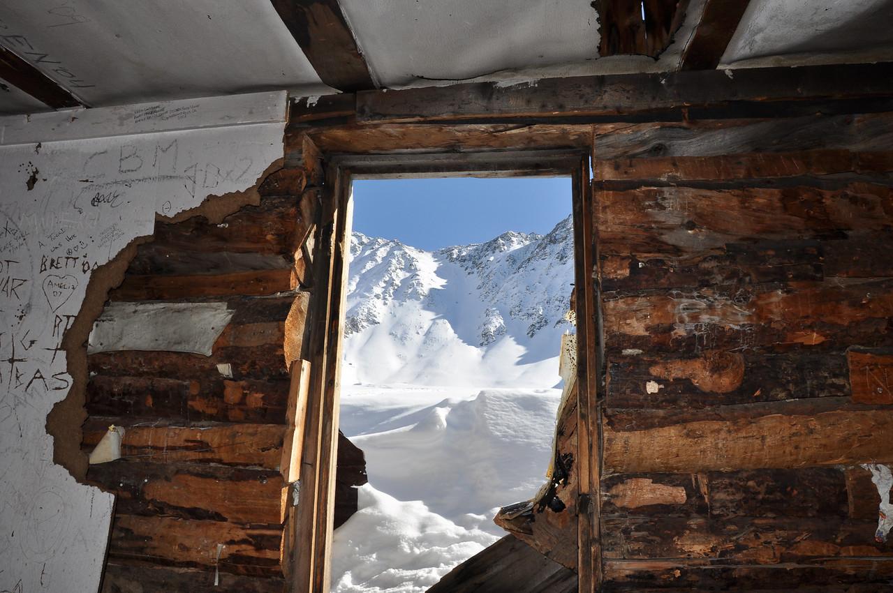 Old mining cabin in Mayflower Gulch outside Copper, CO