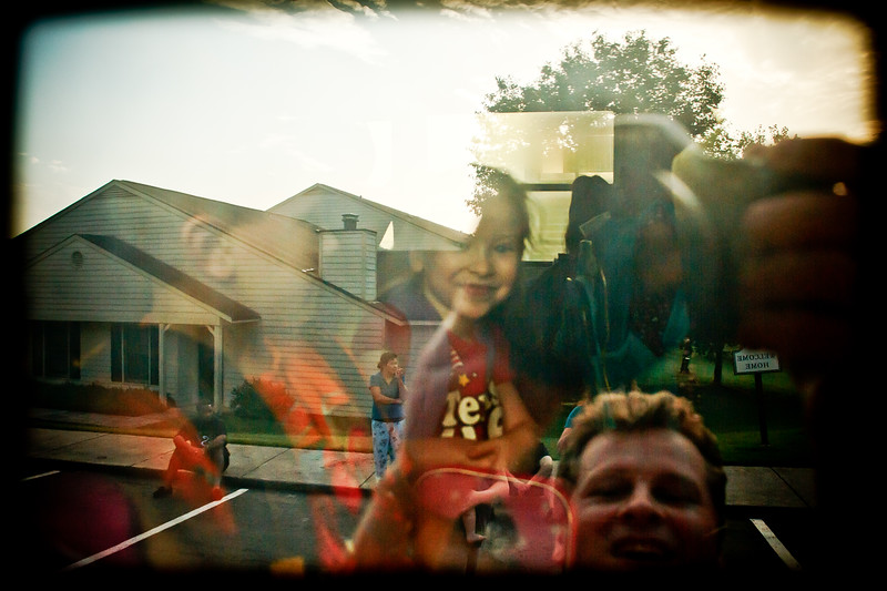 Reflection in the school bus window - August 2011