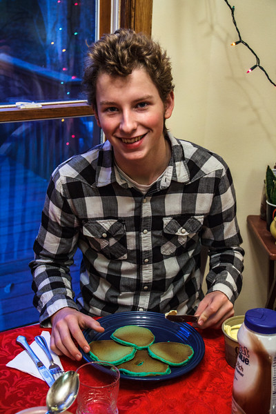 A little sleepy so early in the morning, but still so handsome: Joshua Paul Howland, age 17, December 12, 2012