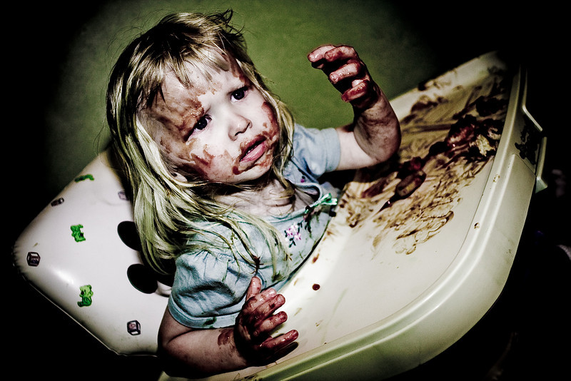 It's Ketchup.  Mess she made.  March 2008.