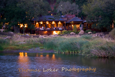 Calistoga Lakehouse Resturant - by Night