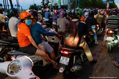 Vietnamese Traffic!   Ho Chi Minh City, Vietnam.