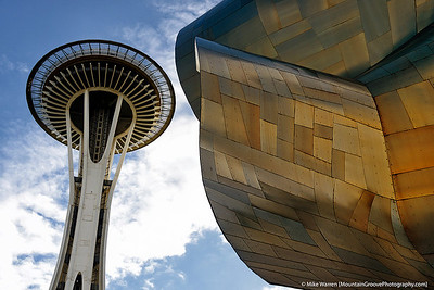 Space needle and EMP, Seattle Center, Seattle