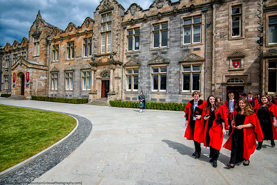 Graduating class, St Andrews University, Scotland
