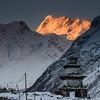 Himalayan alpenglow, Nepal
