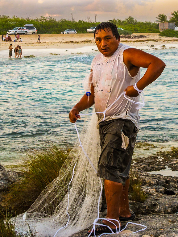Fisherman, Yucatan, Mexico